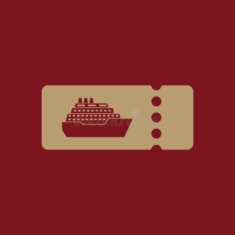 El barco de cruceros marca el icono Símbolo del viaje ilustración del vector