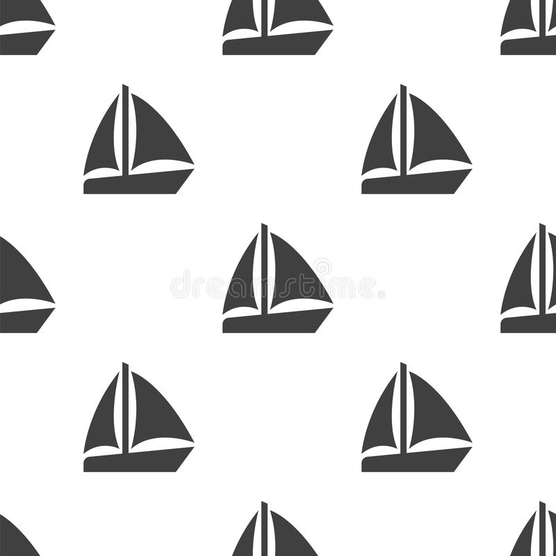 El barco de vela, vector el modelo inconsútil libre illustration