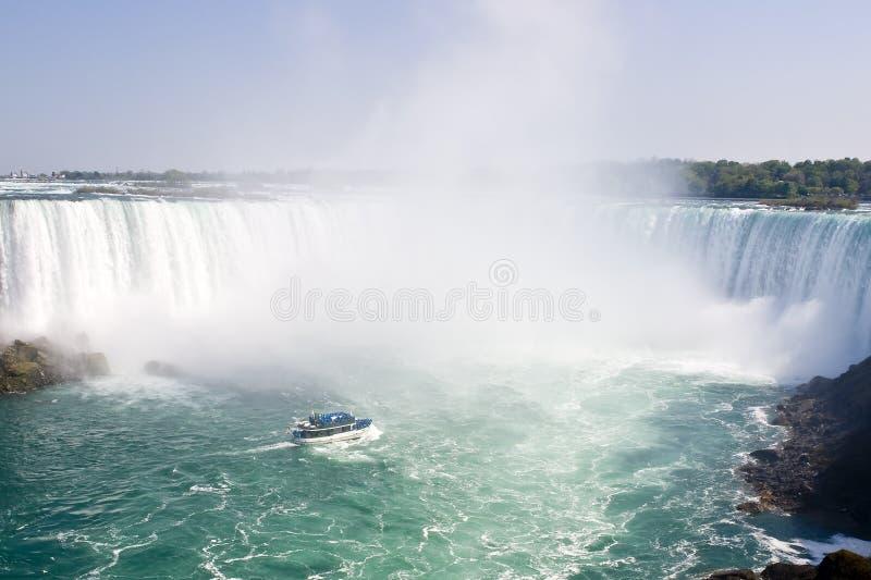 El barco y la herradura cae de Niagara Falls - Ontario, Canadá imagenes de archivo