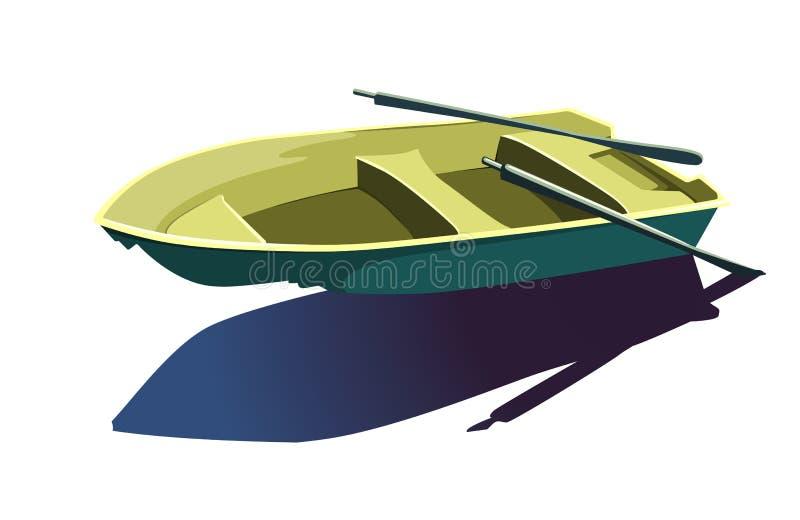 El barco y vende puerta a puerta libre illustration