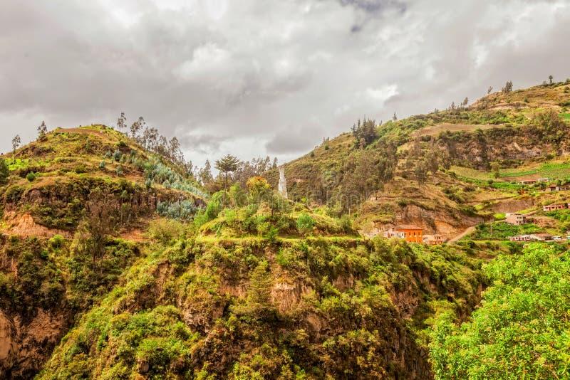 El barranco del río de Guaiatara, Ipiales, Colombia foto de archivo libre de regalías