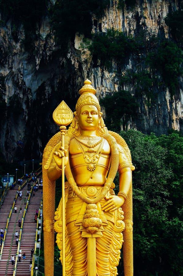 El Batu excava Lord Murugan Statue y la entrada cerca de Kuala Lumpur Malaysia imágenes de archivo libres de regalías