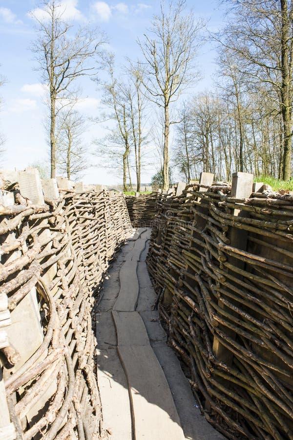 El Bayernwald Trenches la Primera Guerra Mundial Flandes Bélgica foto de archivo libre de regalías
