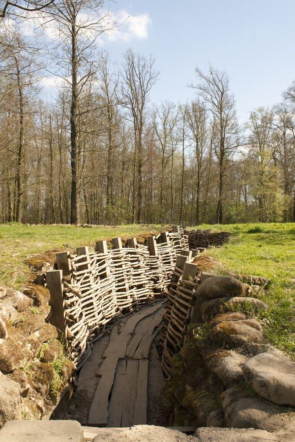El Bayernwald Trenches la Primera Guerra Mundial Flandes Bélgica fotos de archivo
