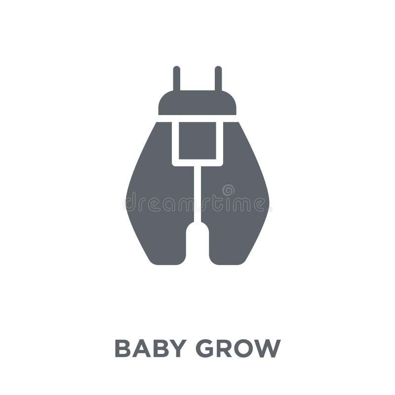 El bebé crece el icono del bebé crece la colección stock de ilustración