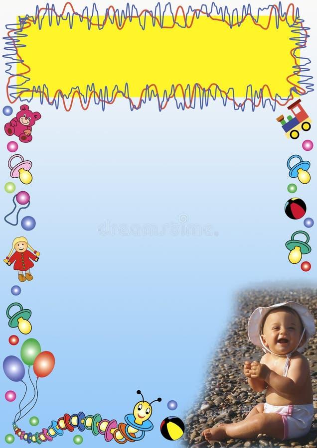El bebé juega la frontera libre illustration