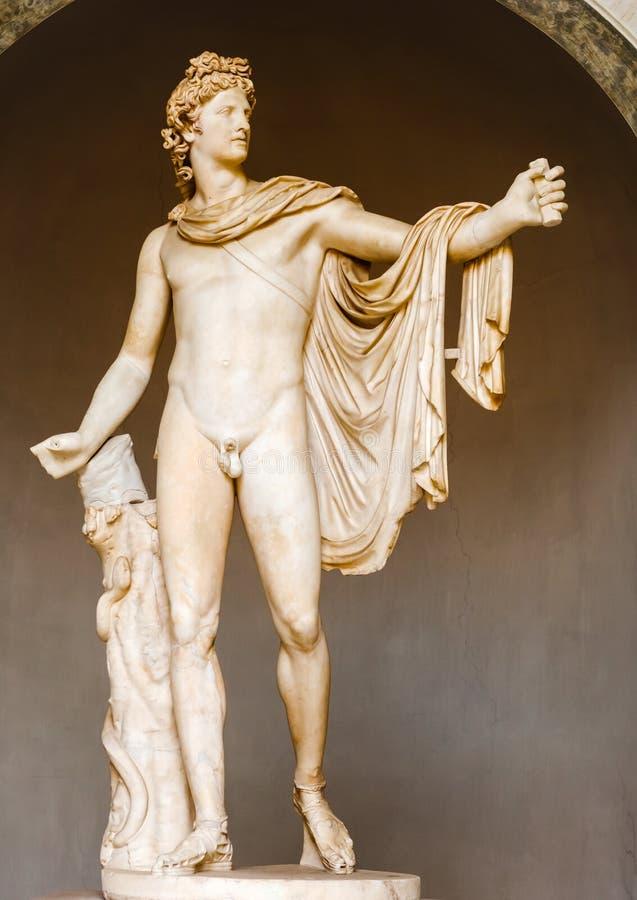 El belvedere Apolo - estatua en museo del Vaticano fotos de archivo libres de regalías