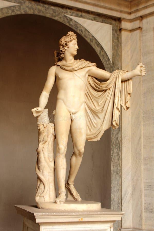 El belvedere Apolo Museo de Vatican imagen de archivo