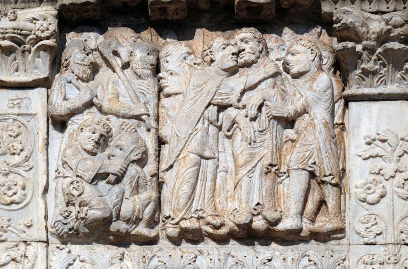 El beso de Judas foto de archivo libre de regalías
