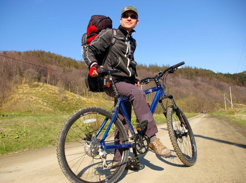 El Bicyclist. imagen de archivo libre de regalías