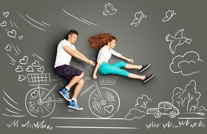 El Biking al futuro ilustración del vector