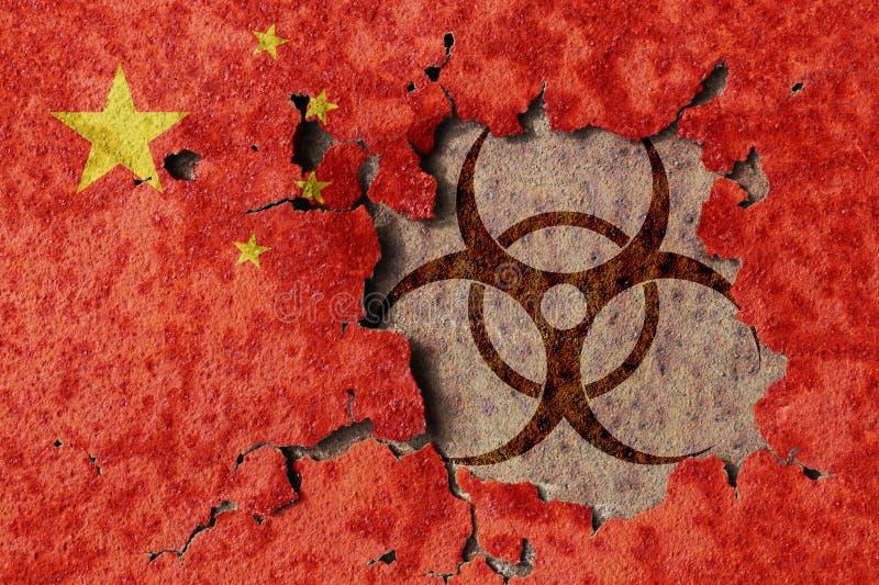 El biopeligro chino imágenes de archivo libres de regalías