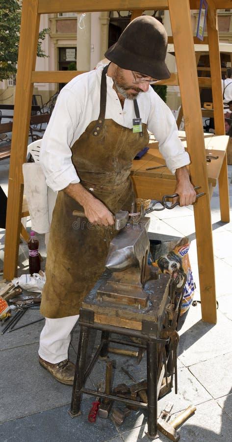 El blacksmithing foto de archivo libre de regalías