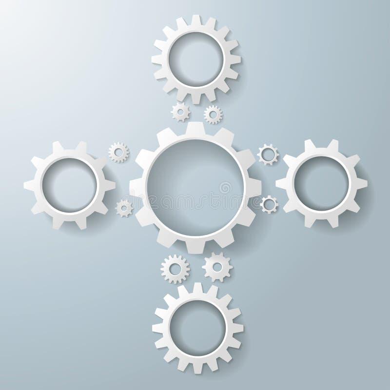 El blanco adapta CRO (coordinadora) stock de ilustración