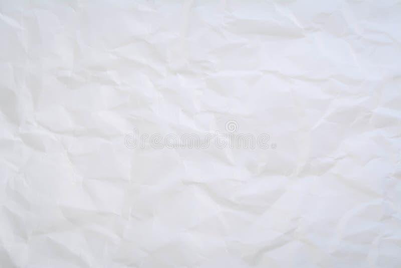 el blanco arrugó el fondo de papel del extracto de la textura imagen de archivo
