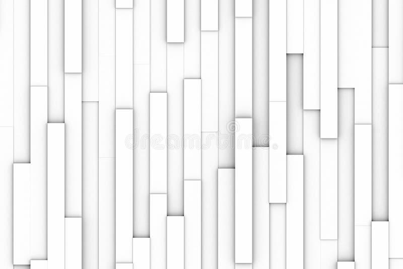 El blanco bloquea el extracto ilustración del vector