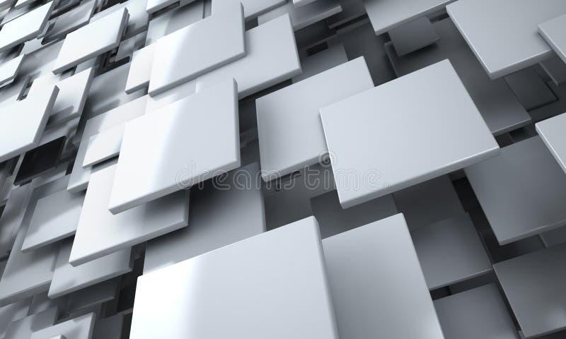 El blanco bloquea el fondo abstracto ilustración del vector