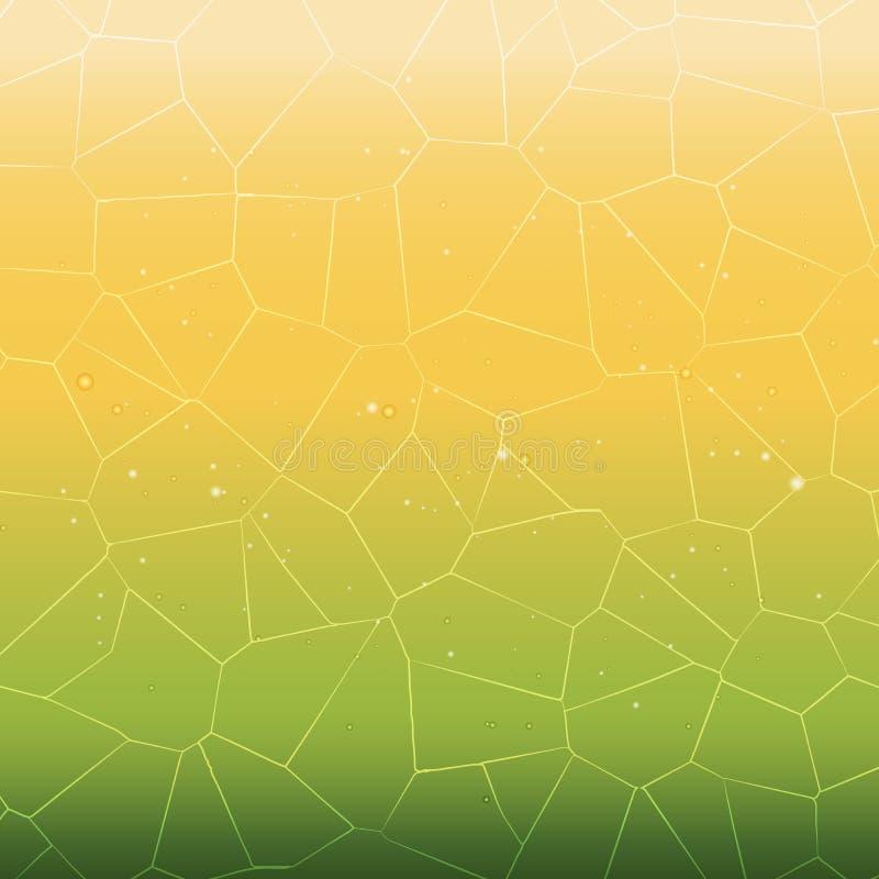 El blanco creado cristaliza la línea fondo del extracto ilustración del vector