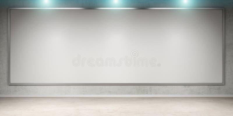 El blanco esconde la lona en una representación de la pared 3D libre illustration