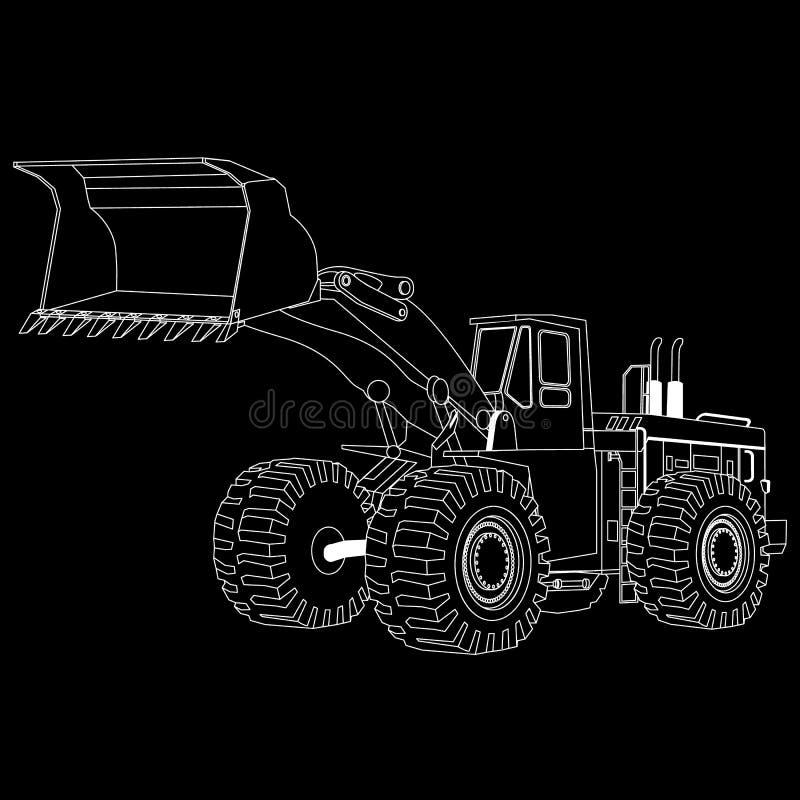 El blanco raya la niveladora, stock de ilustración