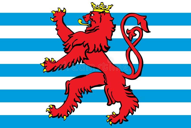 el blason Luxemburgo señala por medio de una bandera stock de ilustración