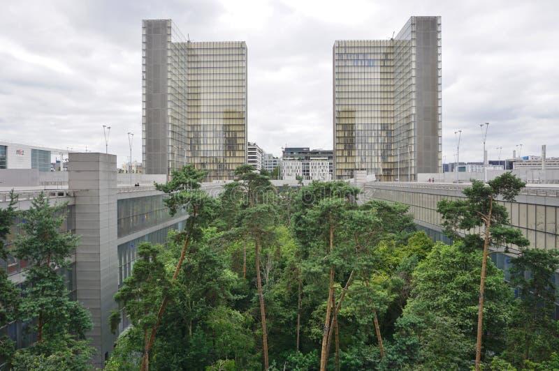 El Bliotheque Nationale Francois Mitterrand en París imágenes de archivo libres de regalías