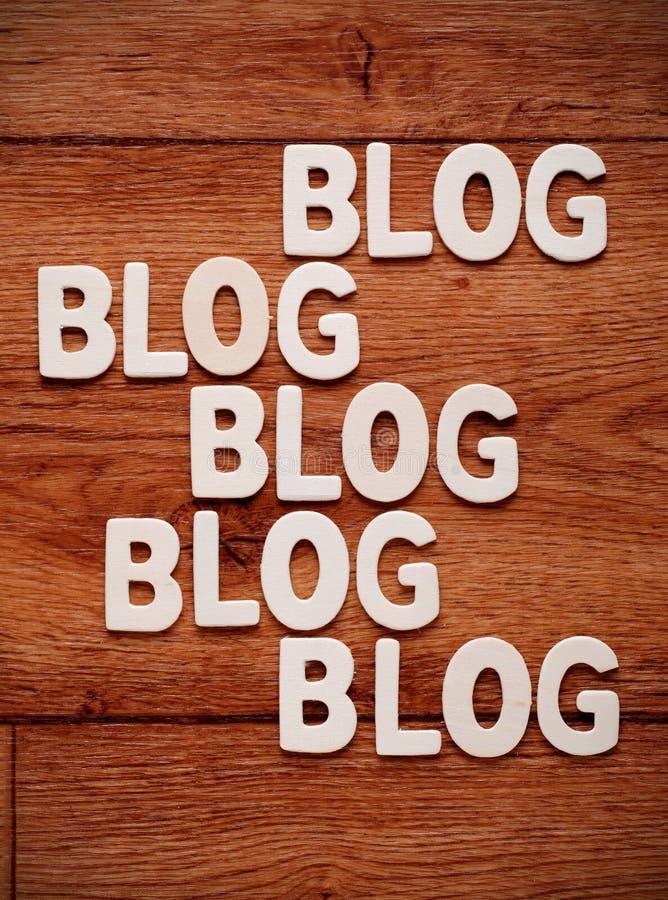 El blog de la palabra fotografía de archivo
