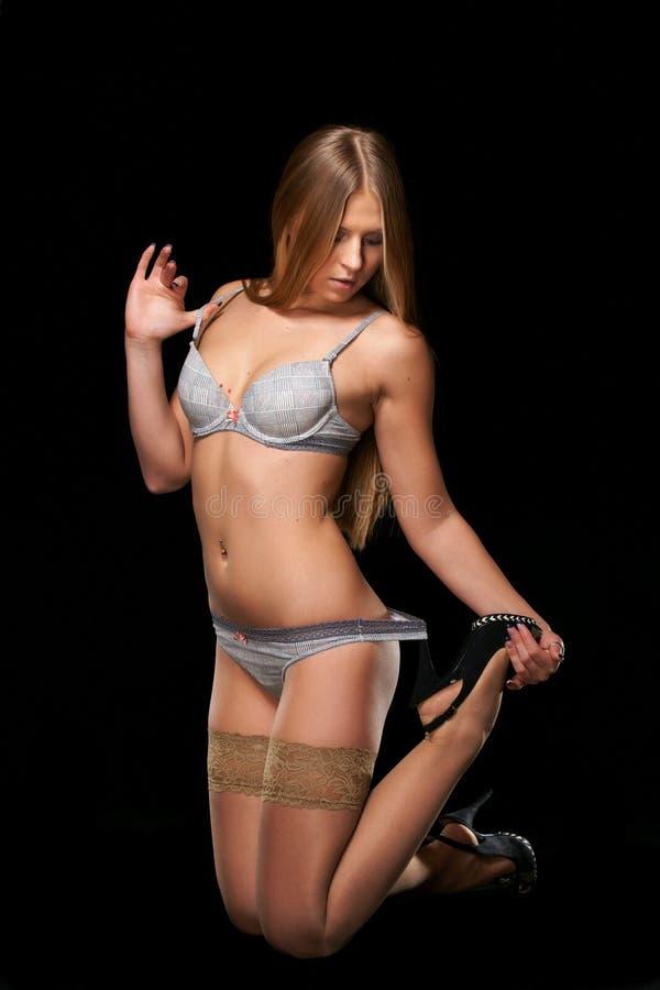 El Blonde Sexual Fotografía de archivo libre de regalías