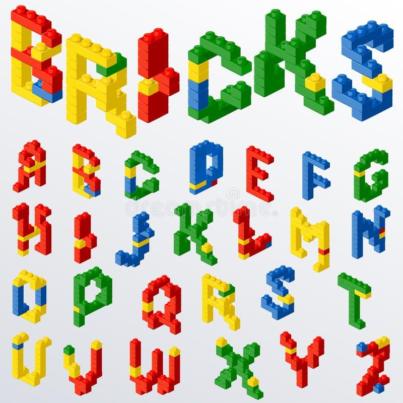 El bloque plástico juega letras libre illustration