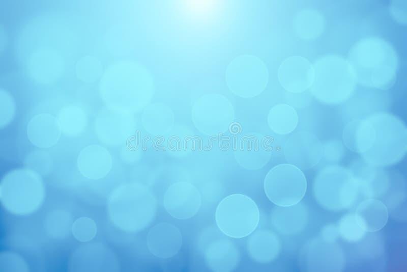 El bokeh borroso azul de las luces suaves texturizó el fondo abstracto, la textura azul clara del bokeh para el contexto o el fon ilustración del vector
