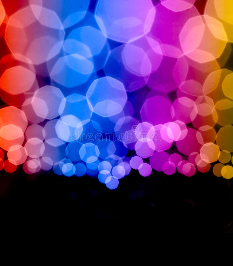 El bokeh colorido enciende el fondo abstracto imagen de archivo libre de regalías