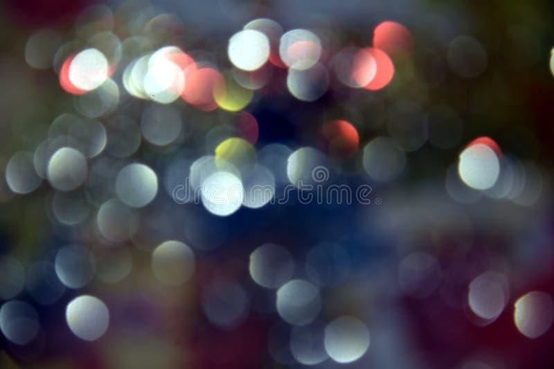 El bokeh rosado azul, circular enciende las tonalidades coloridas, fondo, bokeh fotografía de archivo
