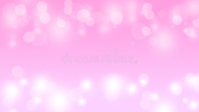 El bokeh rosado suave enciende el fondo del extracto festivo imagenes de archivo