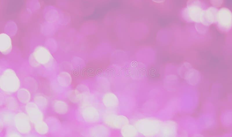 El bokeh rosado y púrpura enciende el fondo, brillo colorido defocused fotografía de archivo libre de regalías