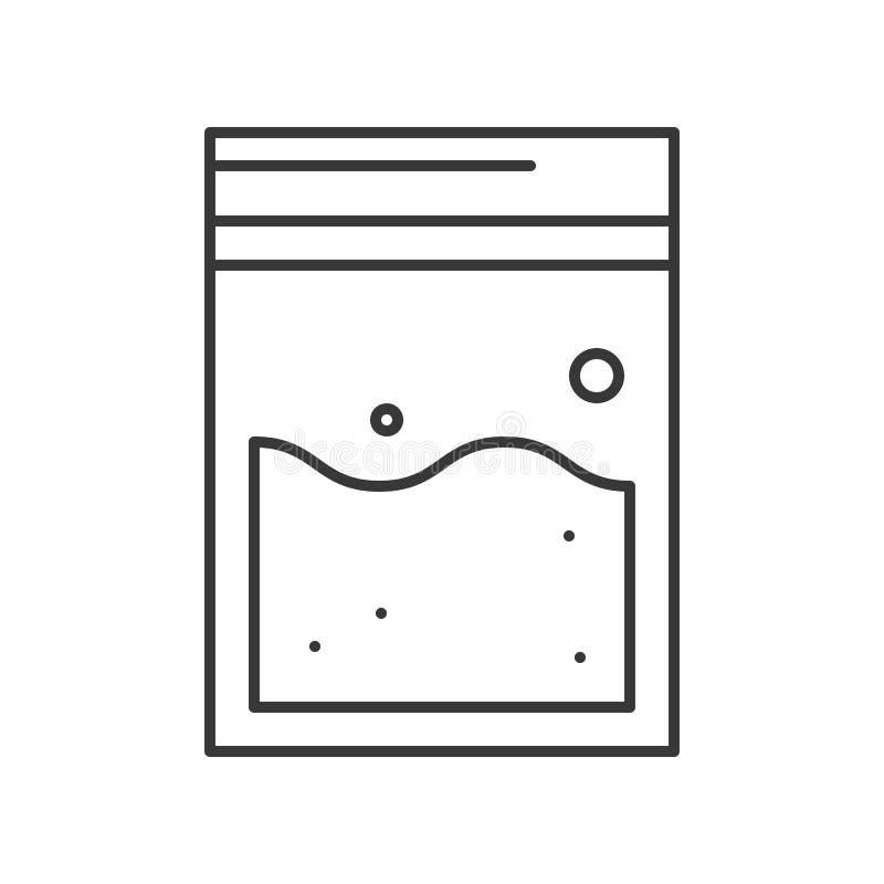 El bolso de las pruebas, policía e investigar relacionó la cigüeña editable del icono libre illustration