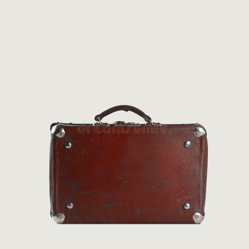 El bolso del viajero marrón pasado de moda fotografía de archivo libre de regalías