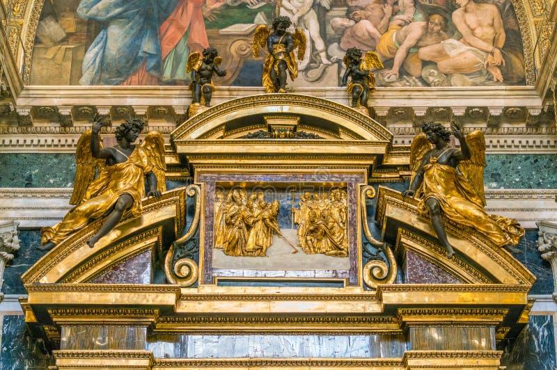El Borghese Paolina Chapel en la basílica de Santa Maria Maggiore en Roma, Italia foto de archivo libre de regalías