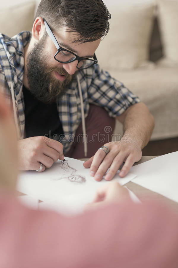 El bosquejar y dibujo fotografía de archivo