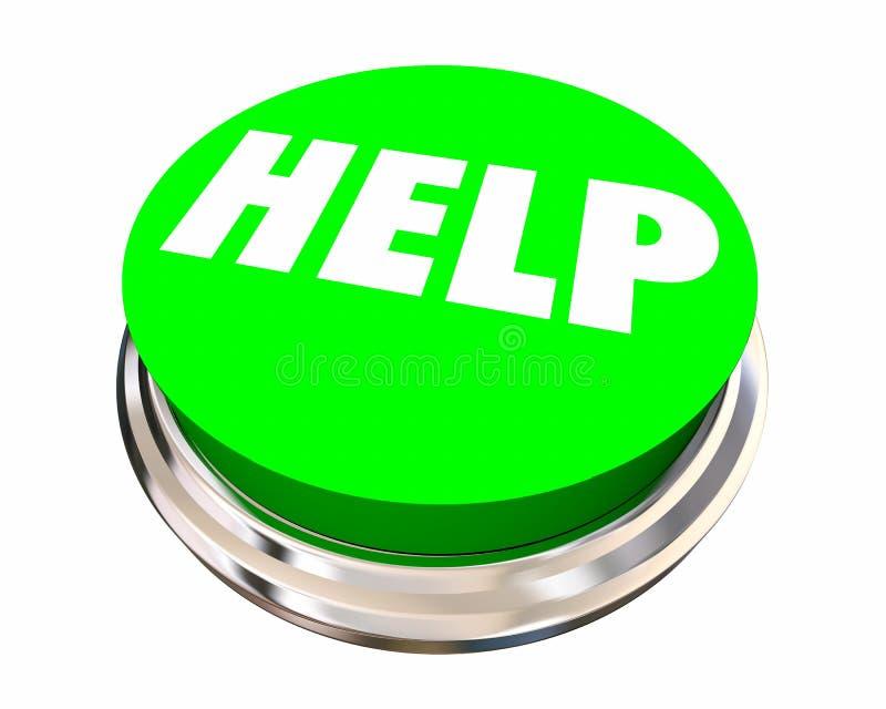 El botón ayuda consigue palabra de servicio de asistencia de la ayuda ilustración del vector