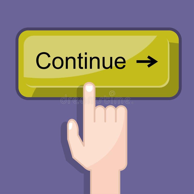 El botón continúa fotografía de archivo