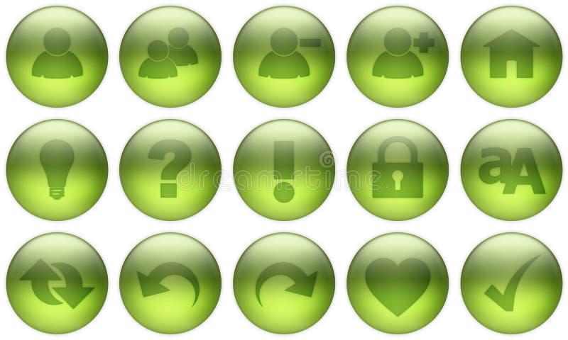 El botón de cristal fijó 3 libre illustration