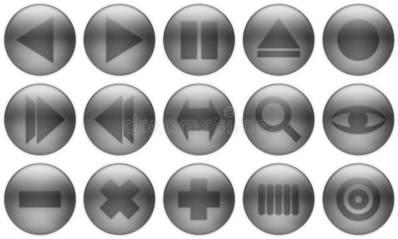 El botón de cristal fijó el conjunto libre illustration