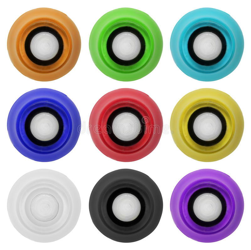 El botón de goma verdadero fijó 4 | Aislado fotos de archivo libres de regalías