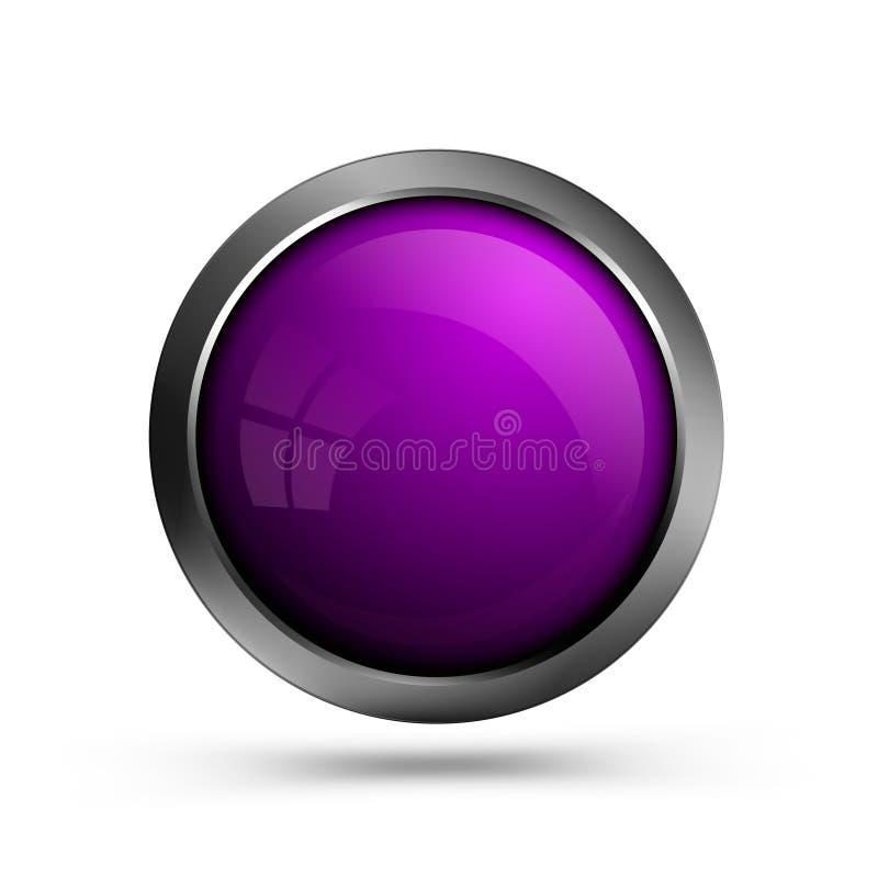 El botón de la web es púrpura ilustración del vector