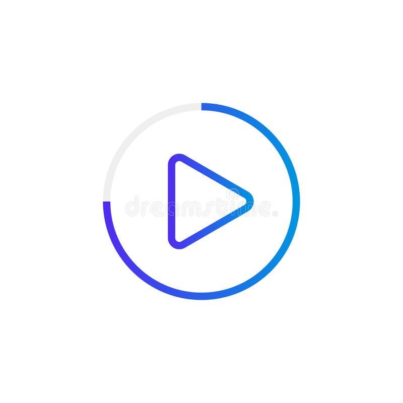 El botón de reproducción video le gusta el icono simple de la respuesta libre illustration