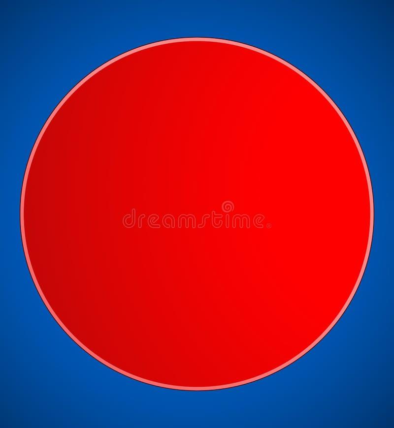 El botón en blanco del círculo, fondo de la insignia en varios colorea stock de ilustración