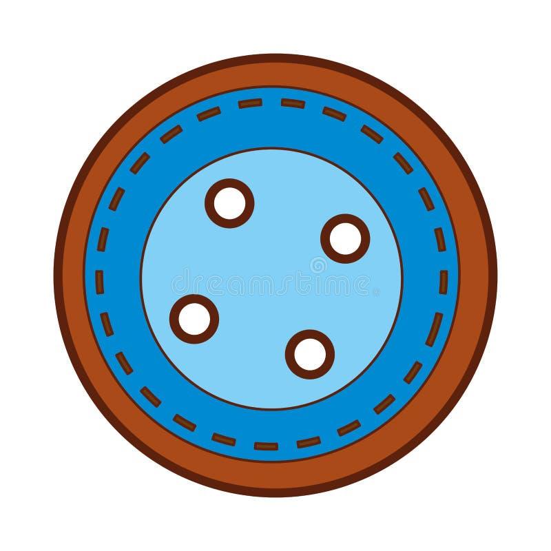 El botón lindo viste el icono stock de ilustración