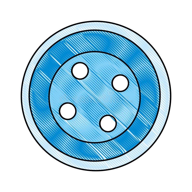 El botón lindo viste el icono libre illustration