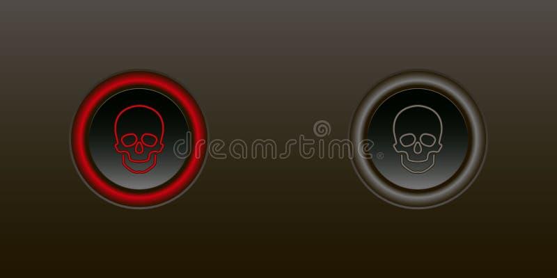 El botón permite la neutralización stock de ilustración