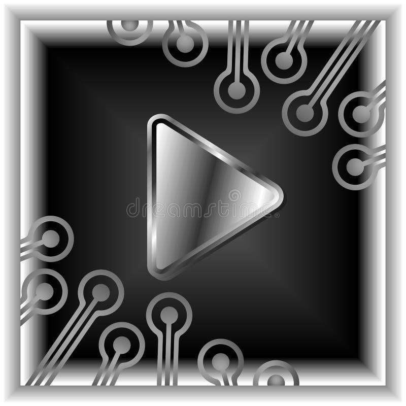 El botón video ilustración del vector
